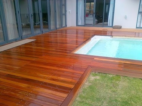 Decking and pool area