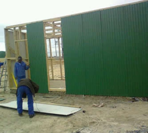 Galvanised sheds